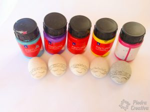 Paints for painting stones with ladybugs