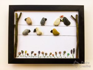 Pictures with decorative stones - PiedraCreativa