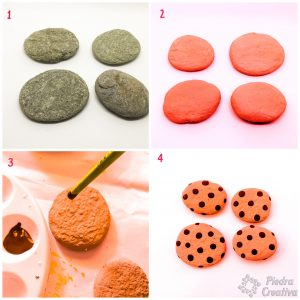 Steps to paint cookies on stones