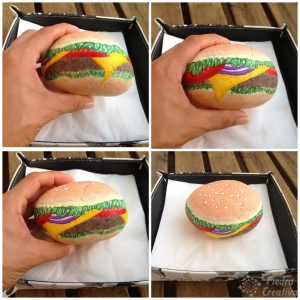 Painted Stone Hamburger Napkin Holder