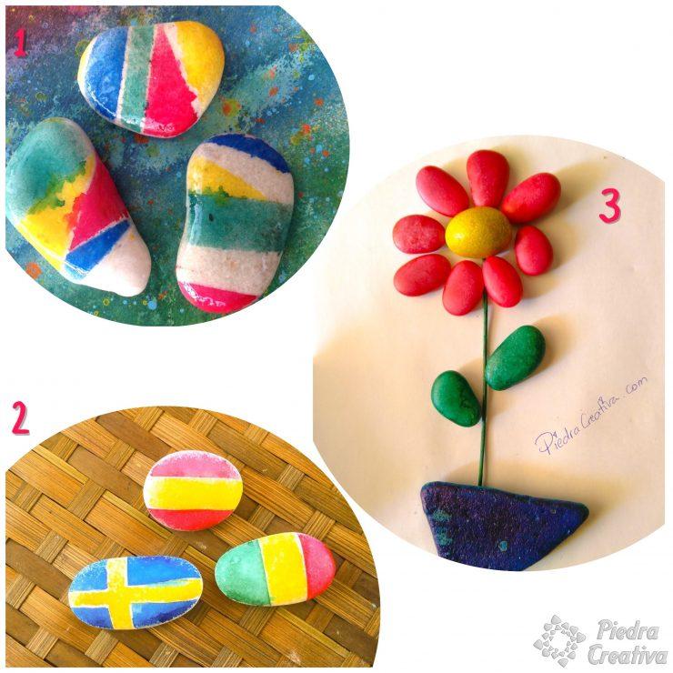 Como pintar piedras con spray