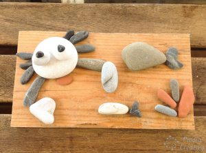 manualidad cangrejo de playa con piedras piedracreativa 300x224 - Crab in rock painting