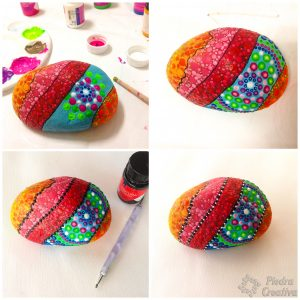Painted stones for stop the doors