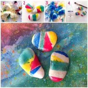 paso a paso piedras pintadas con spray en 4 pasos de piedracreativa 300x300 - Painting stones with water based acrylic spray paint ... does it work?