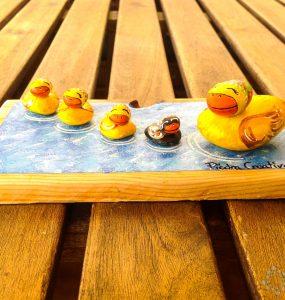 Patos pintados en piedras por PiedraCreativa
