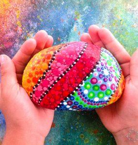 Piedras pintadas para sujetar puertas de PiedraCreativa