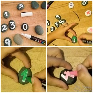 Painting stones with kids
