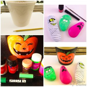 Painted Stones Halloween Craft