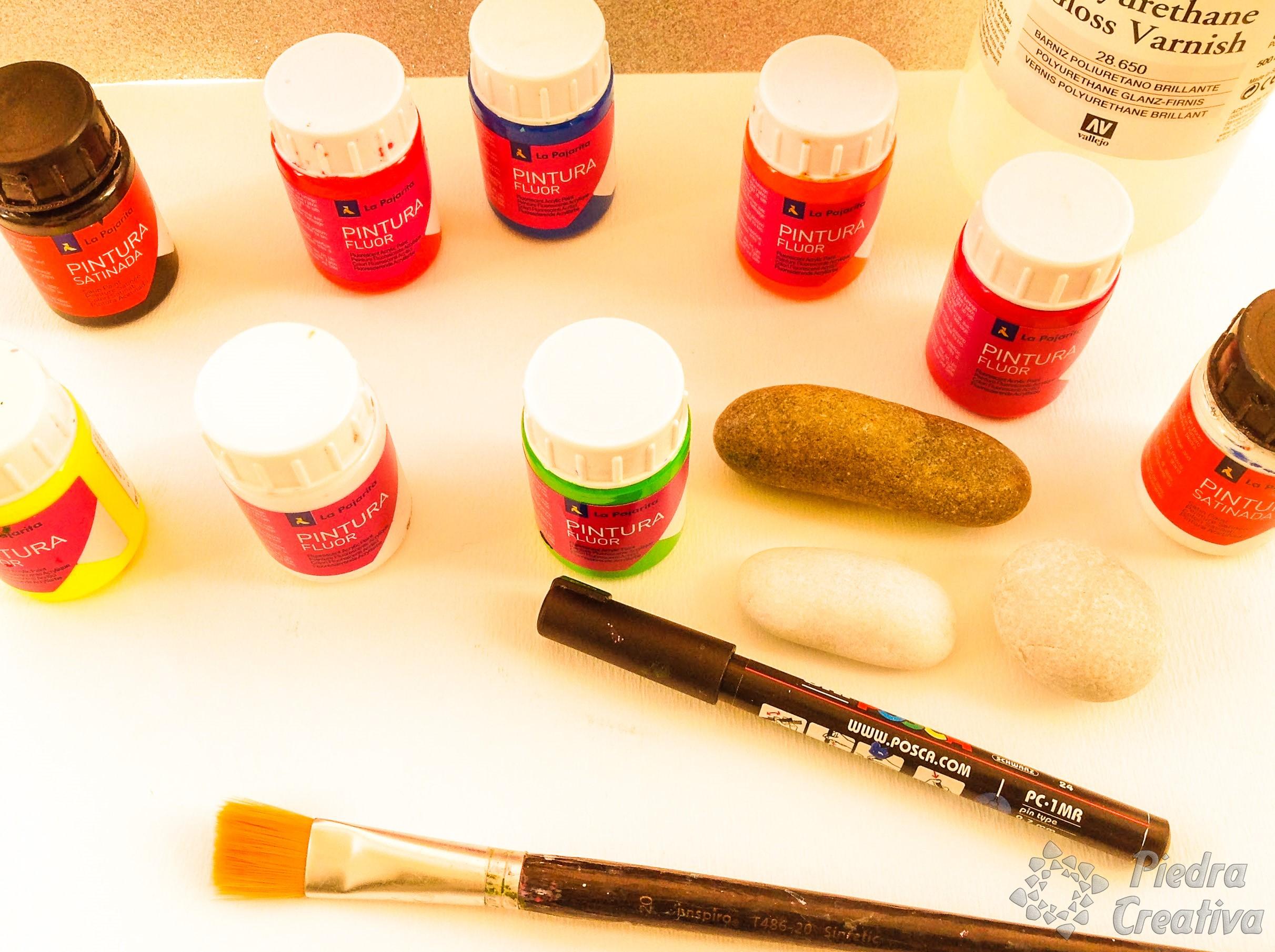 Pintura fluorescente para piedras piedracreativa for Pintura para piedra natural