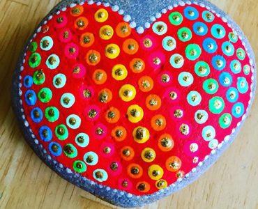 Corazón con puntos