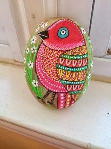 Bird stone paint